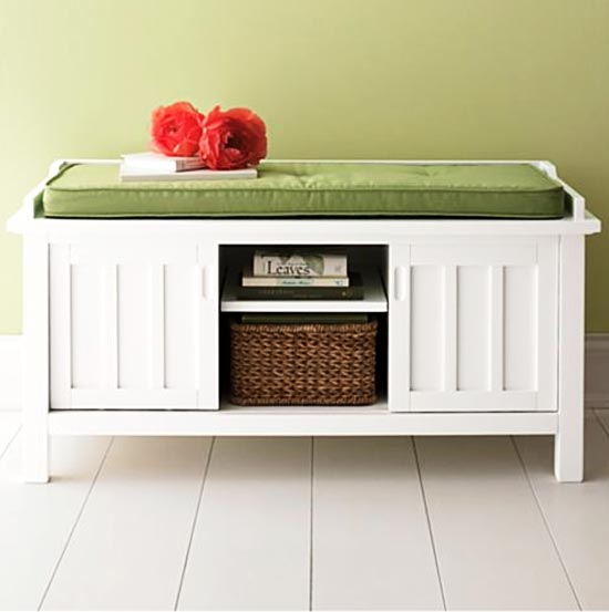 Brightonstoragebench Affordable Organization Diy Bathroom Storage Bench Domestically Speaking