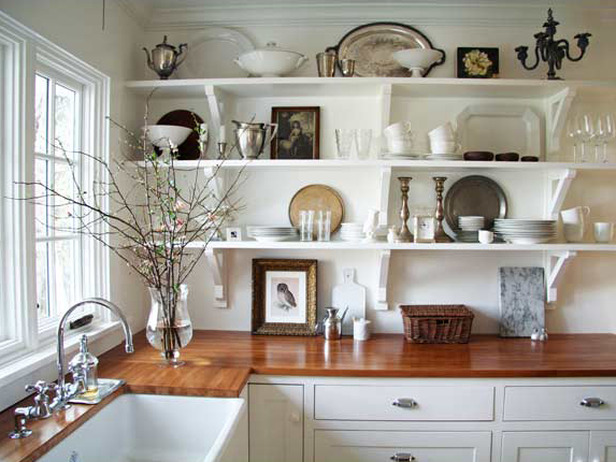 if your kitchen is short on cupboards or if you just want to make it seem more spacious opt for open shelving you can show off your favorite dishes while - Kitchen Organization Ideas Small Spaces